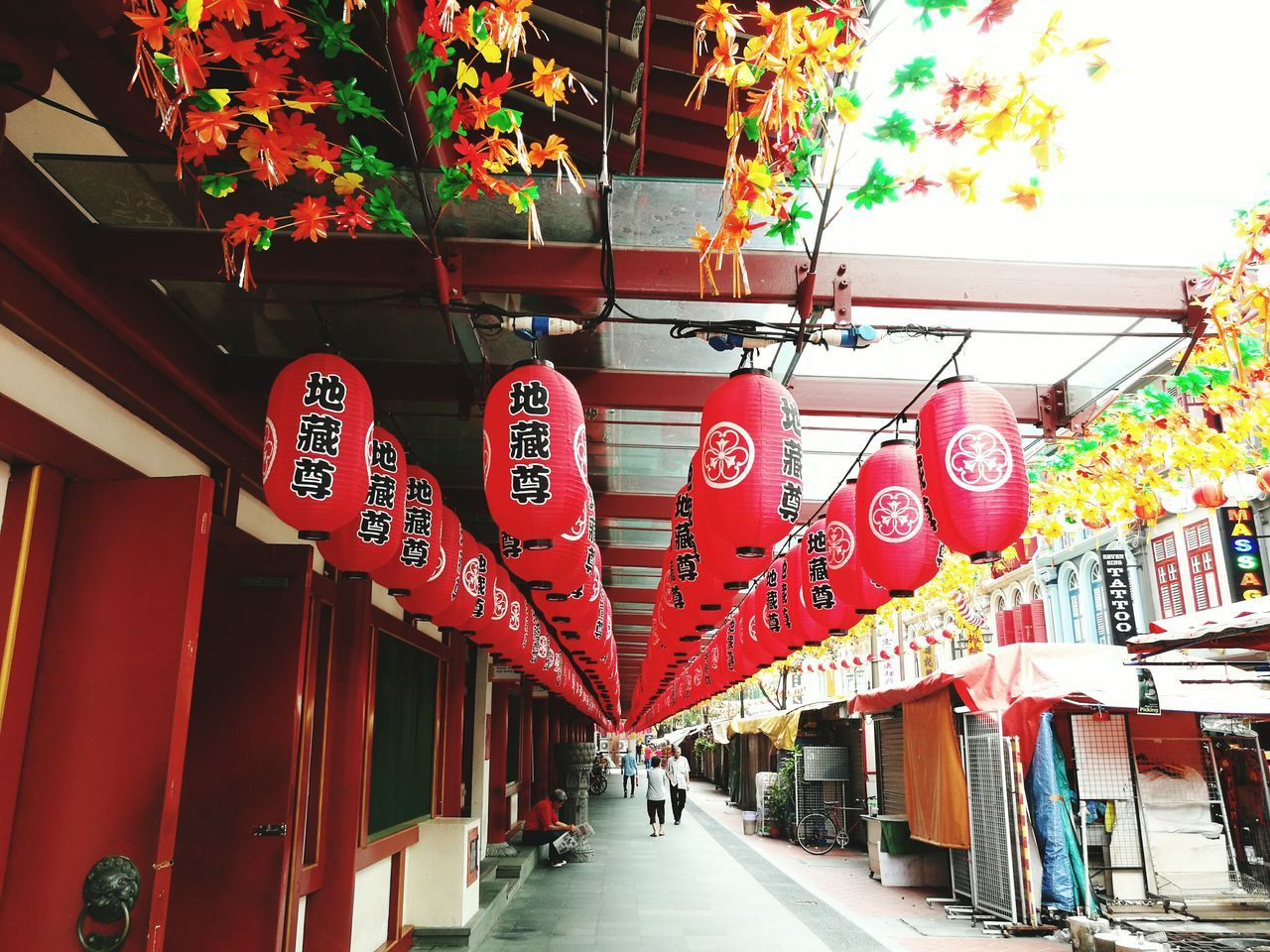 red, lantern, chinese lantern, text, architecture, built structure, hanging, day, building exterior, outdoors, no people
