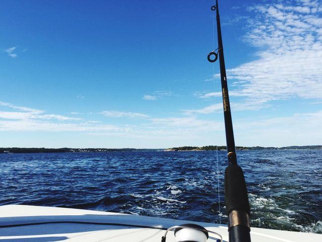 Gone Fishing On A Boat Sea And Sky Making Dinner
