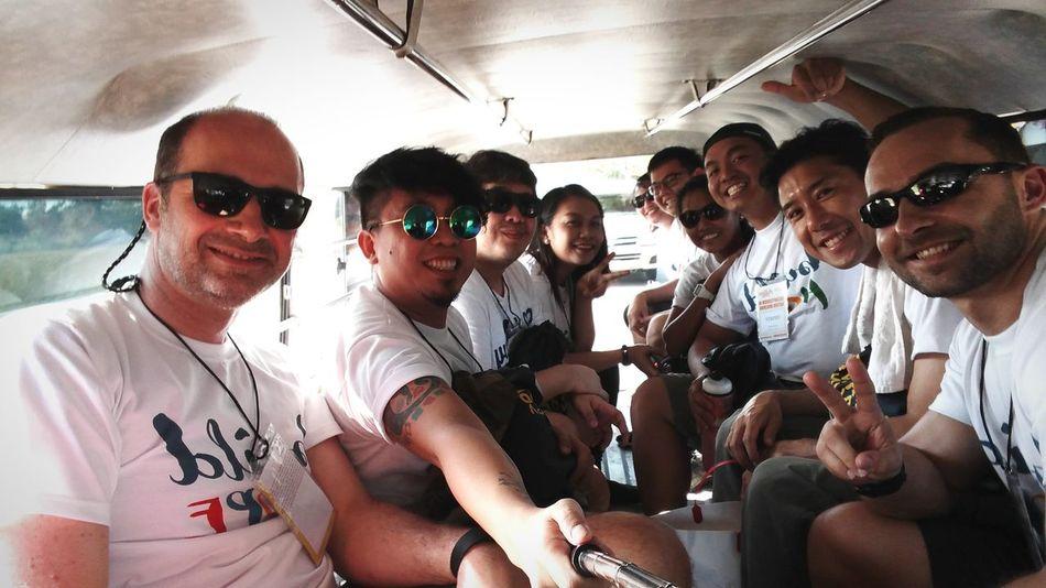 Jeepney groufie!!!😀 WalangIwanan GK Batch25 Trendmicro
