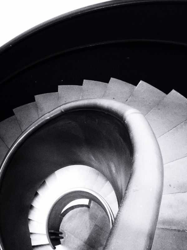 Scroll Architecture_bw Stairs Monochrome Blackandwhite