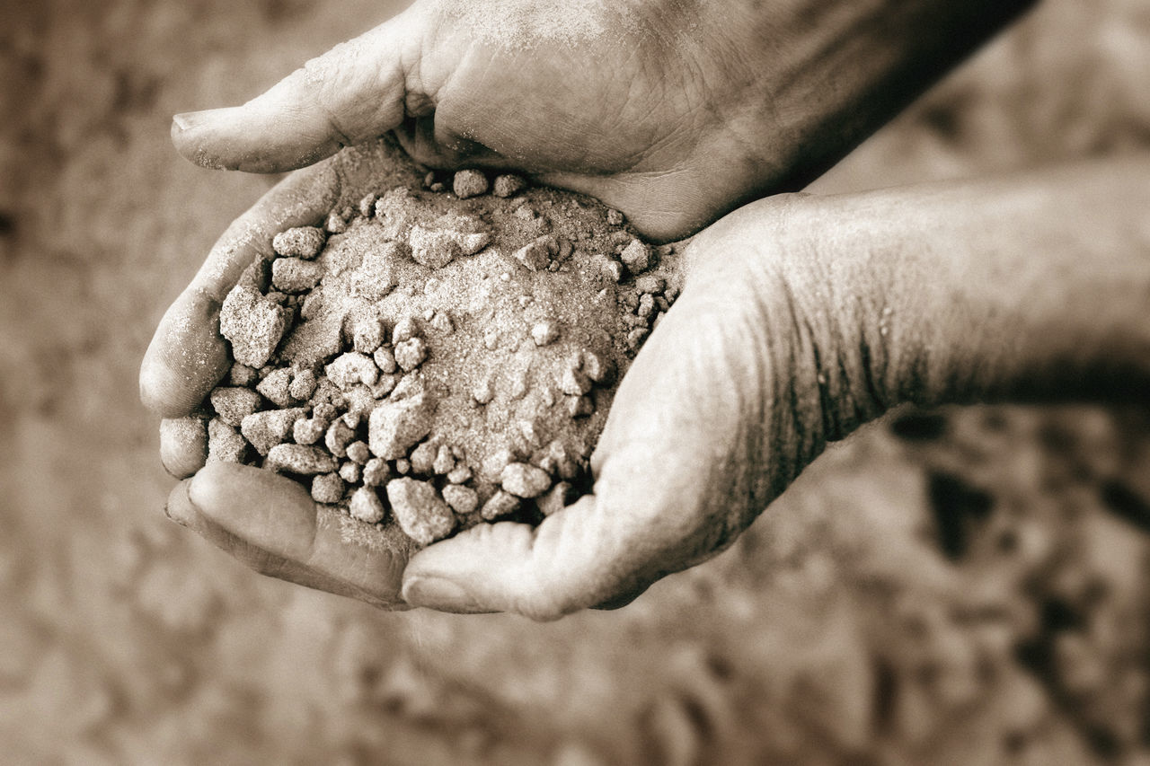 Sandy soil Adult Agriculture Close-up Day Dirt Drought Freshness Gardening Holding Human Body Part Human Hand Nature One Person Outdoors People Sand Sandy Soil Sepia Soil