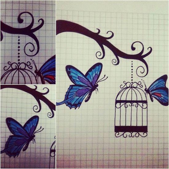 Tatuaje Tattooadict Tattoos Tattoo tatuajes mydrawing mariposas tattoogirls