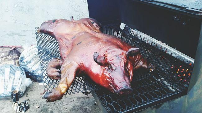 ShareTheMeal Smoking Smoked Barbeque Barbeque Pig Pork Whole Hog