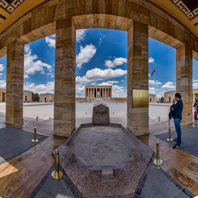 Anıtkabir Architectural Column Architecture Atatürk Baskent Blue Building Exterior Built Structure City Cloud - Sky Day Footpath History Memories Monument Outdoors Person Sky The Way Forward Walkway