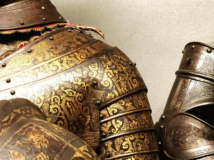 Pattern No People Close-up Armour Metal Uniform Engravings Knights War Battle Going To Battle Protective Gear Protective Armor Ready To Go Urban Lifestyle Life And Death Rüstung Ritterrüstung Middle Ages Elaborate Artwork