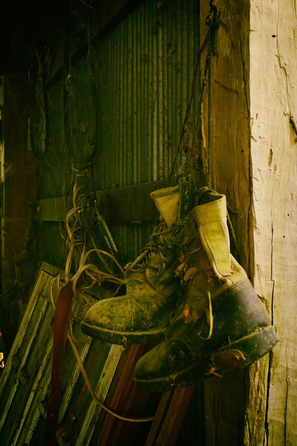 old A Pair Of Shoes Aged CastAway  Disband Hanging Not Used Old Old Shoes Outcast Shabby