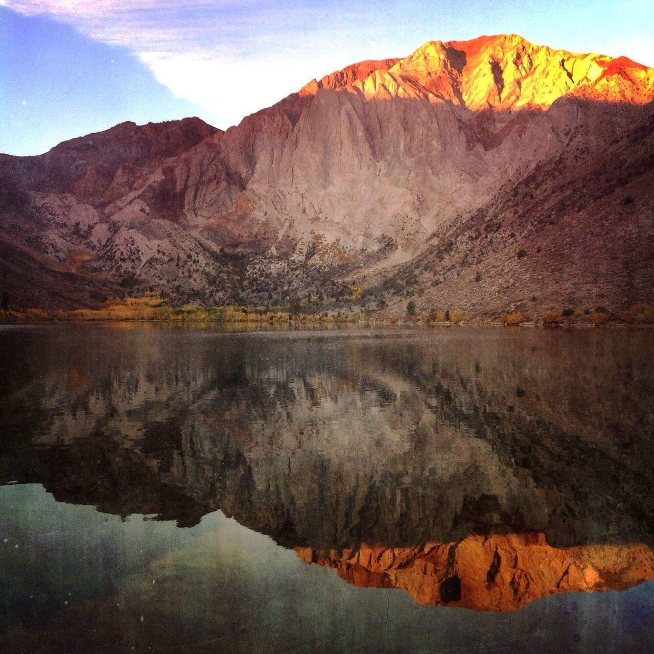 Reflection Of Mountains On Lake