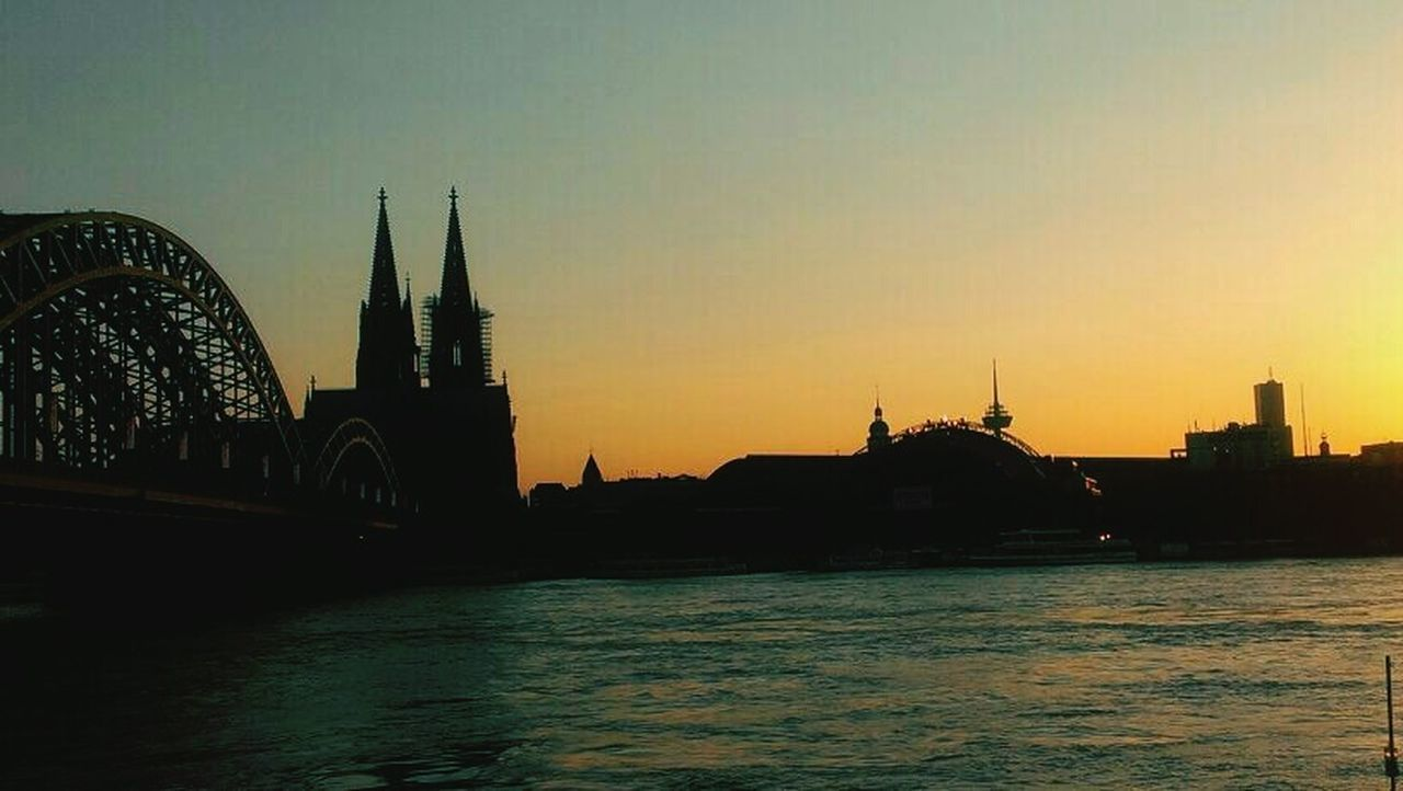 Cologne , Köln,  Sun Going Down Clock Tower