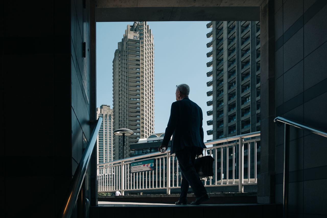 Architecture Bar Bridge Brutalism City City Life Commute Future London Man Science Suit Work