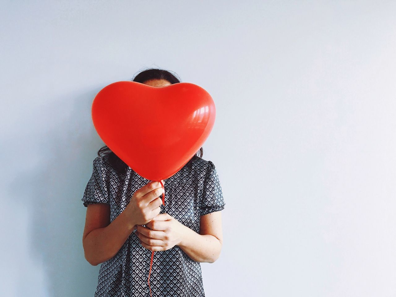 Balloon Holding One Person Helium Balloon Studio Shot White Background Adults Only Women Real People Human Hand Human Body Part Day Women Around The World
