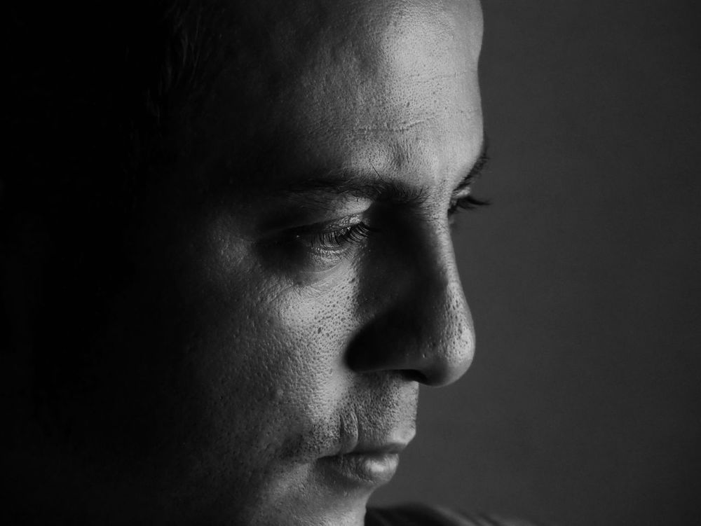 Deep Black Inside Thinking Close-up Contemplation Day Hispanic Human Body Part Human Face Indoors  One Person People Studio Shot