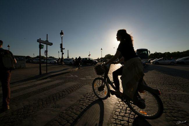 Bycicle Velib´ Vélib Backlight Bridge On Your Bike Bike Bike Ride