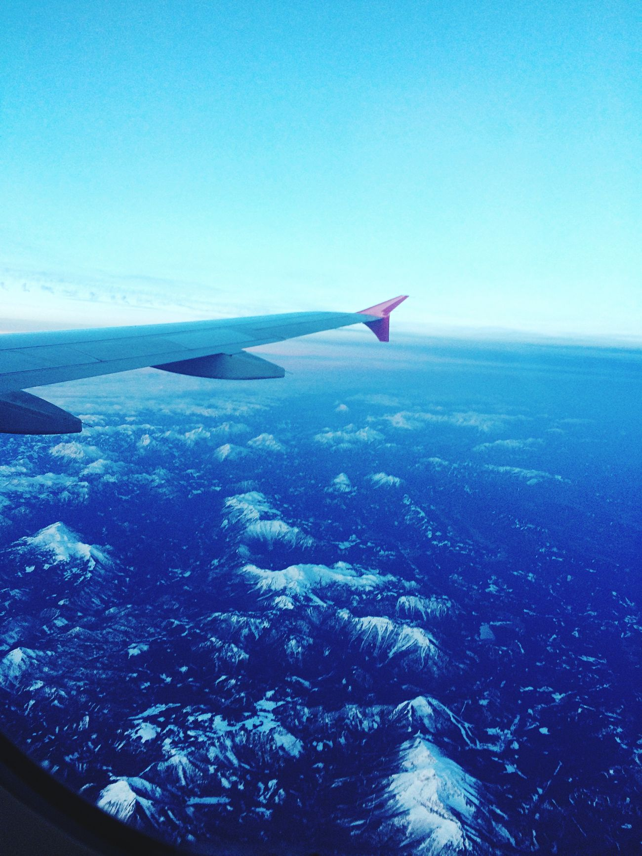 Flying High Beauty In Nature Airplane Blue Flying Nature Sky Mode Of Transport Aircraft Wing Airplane Wing No People Aerial View Transportation Sea Memories Day Scenics Outdoors Water Flying High