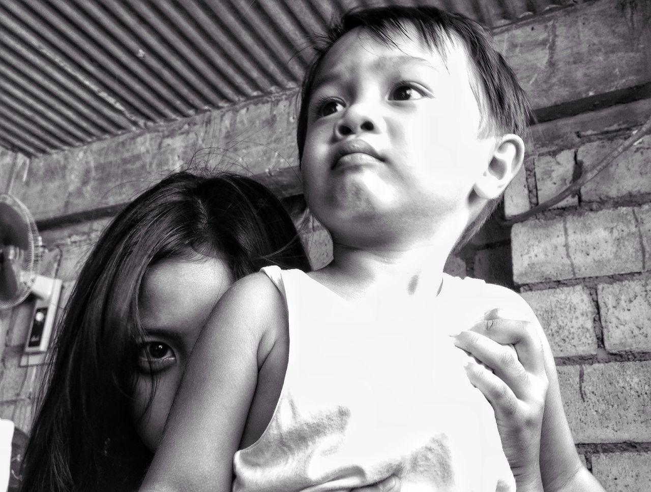 I see you // Eyeem Philippines Kids Baby Sitting Blackandwhite Eyeseeyou