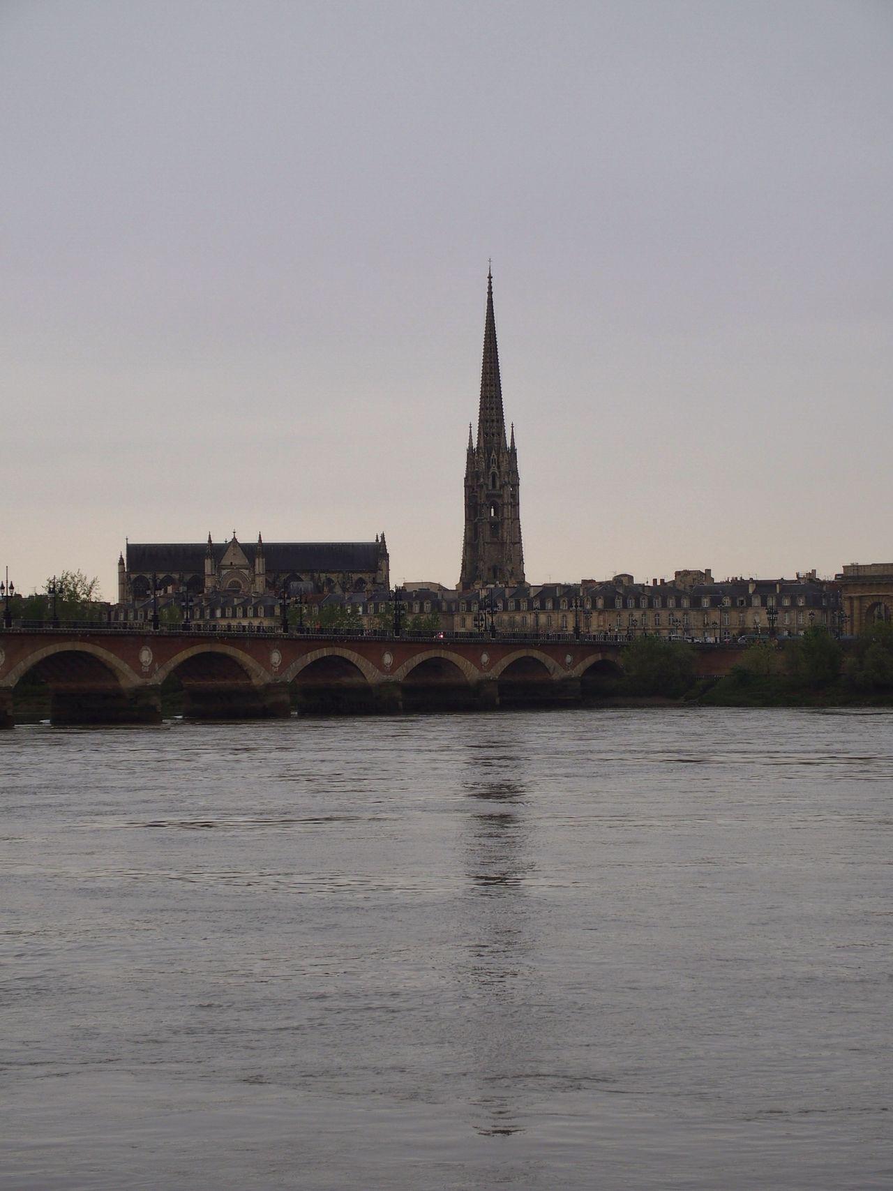 Architecture Architecture_collection Bordeauxtourism Bridge Bridge View Church Old Town Reflection
