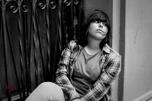 By Azager Lasstroth Model P.V. 50mm F1.8 A37 Casual Clothing Casual Look Casualstyle Monterrey City Phorography  Portrait Portrait Of A Woman Sonyalpha Streetphotography