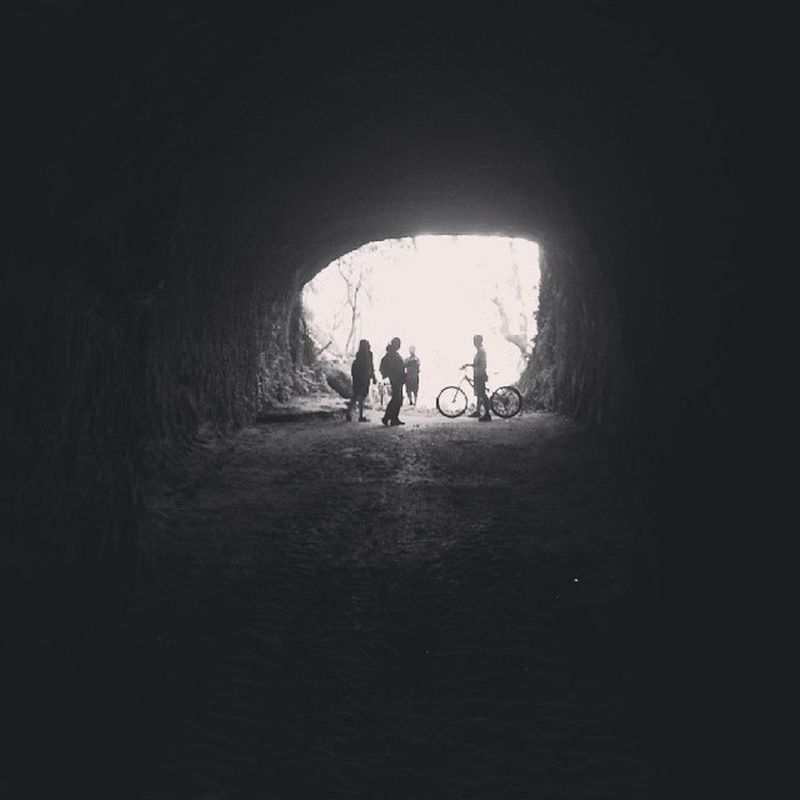 There's always light at the end of the tunnel. Angonorizal Black And White Light At The End Of The Tunnel Manmade Cave Biketrip