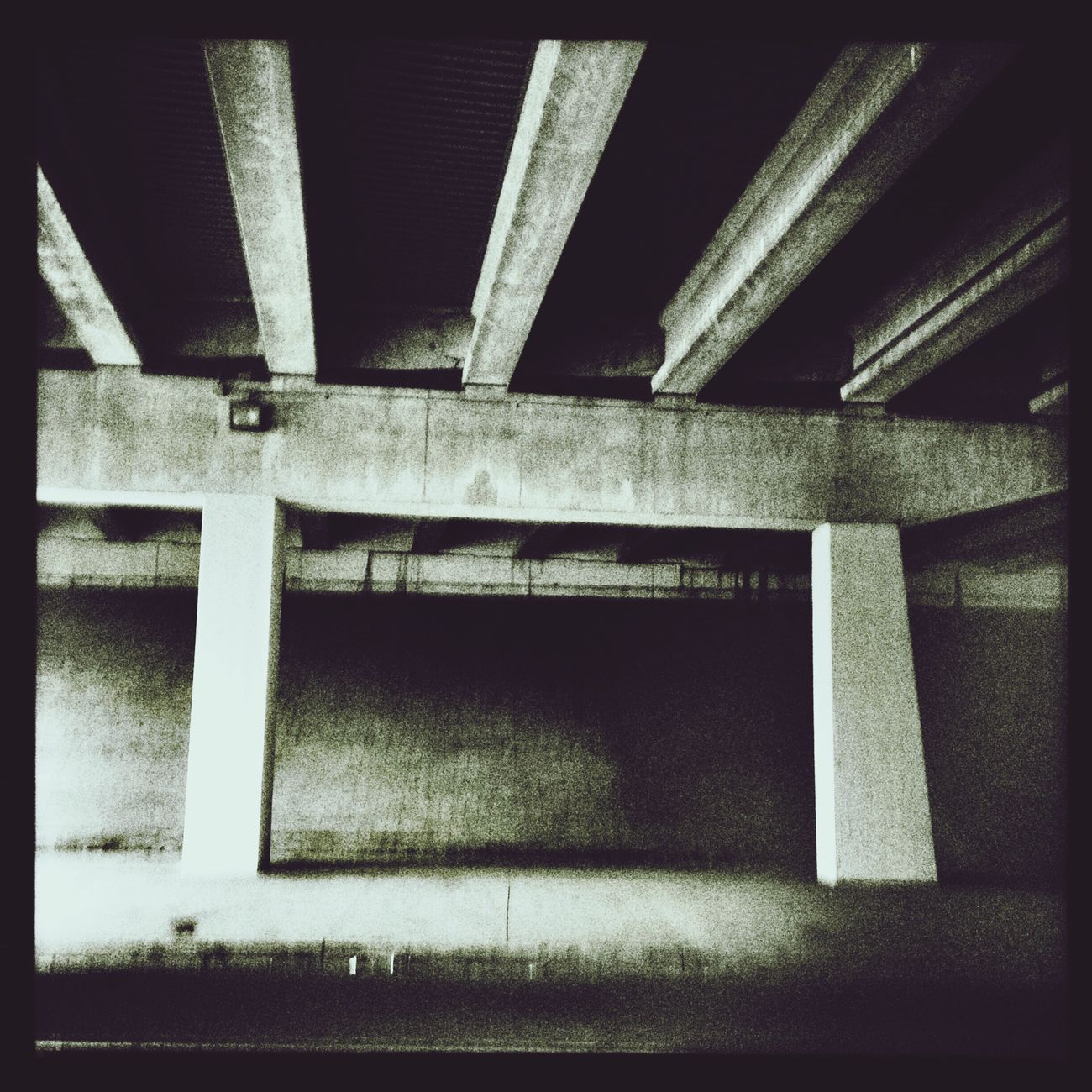 Christian Street under Interstate-95 in Philadelphia. Cityscapes Philadelphia Blackandwhite
