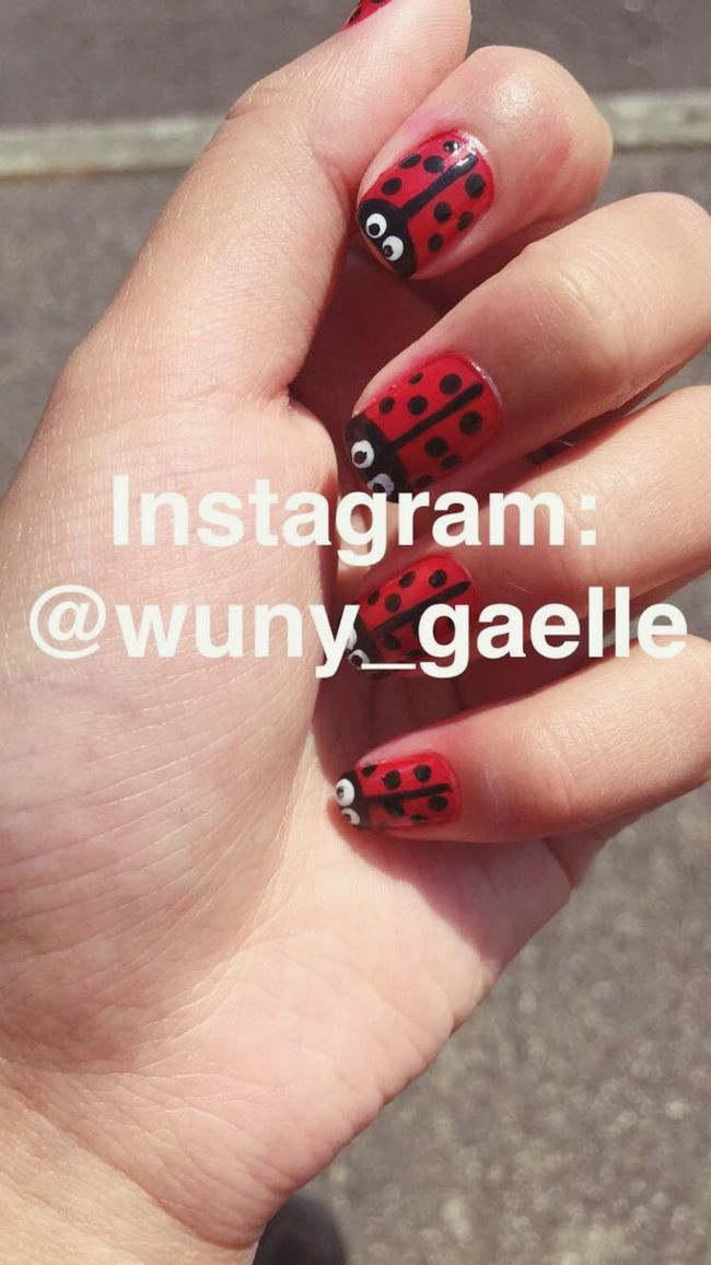 The tutorial soon on instagram! 💅@wuny_gaelle Check This Out Nails Nail Art Ladybug Cute Lovely Nailpolish Taking Photos Enjoying Life Instagram