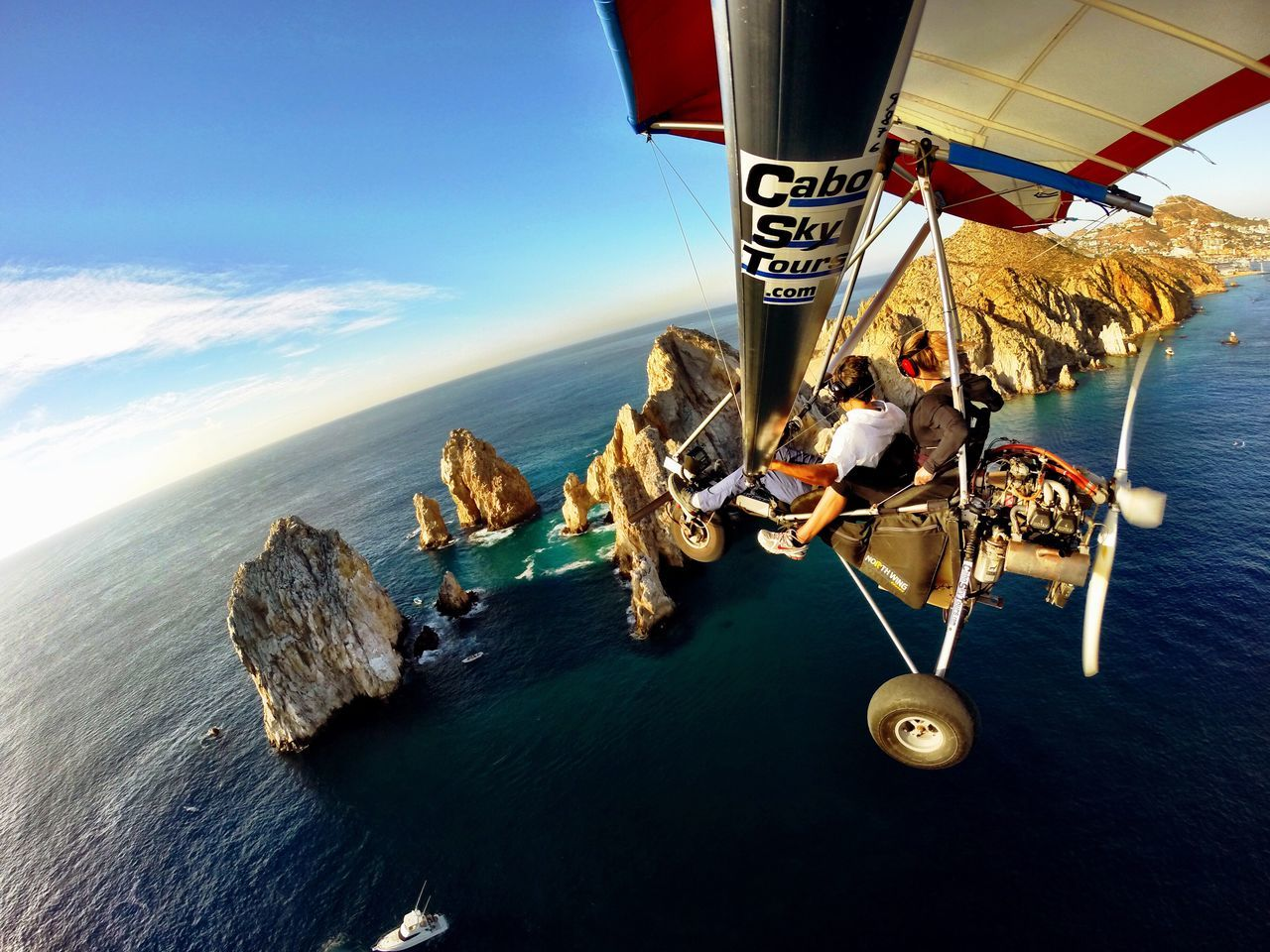 Cabo San Lucas LandsEnd Mexico Bajacalifornia LosCabos Sea Horizon Over Water Water Scenics Sky Beauty In Nature Outdoors Nature Tranquility Day Sport Skydiving Fly Away Sportextreme Adventure Adventure Time Adrenaline Junkie Adrenaline Determination Travel