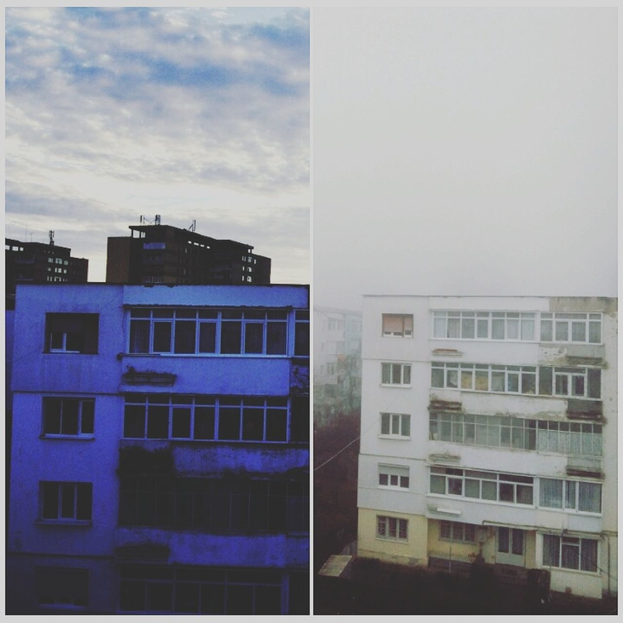 Foggy Weather Day&night Different View Foggy Day Collageoftheday