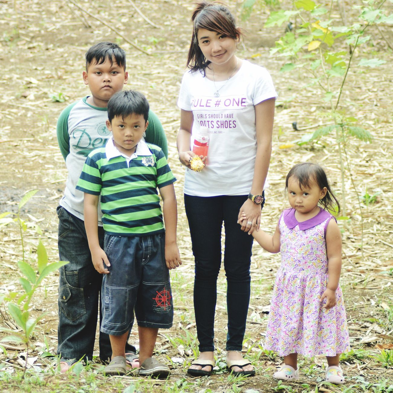 Girl Asian Girl Childrens Childrenphoto Children Playing In The Garden Verydelighted Upee, Raffa, Kevin and A'el INDONESIA, SUKABUMI