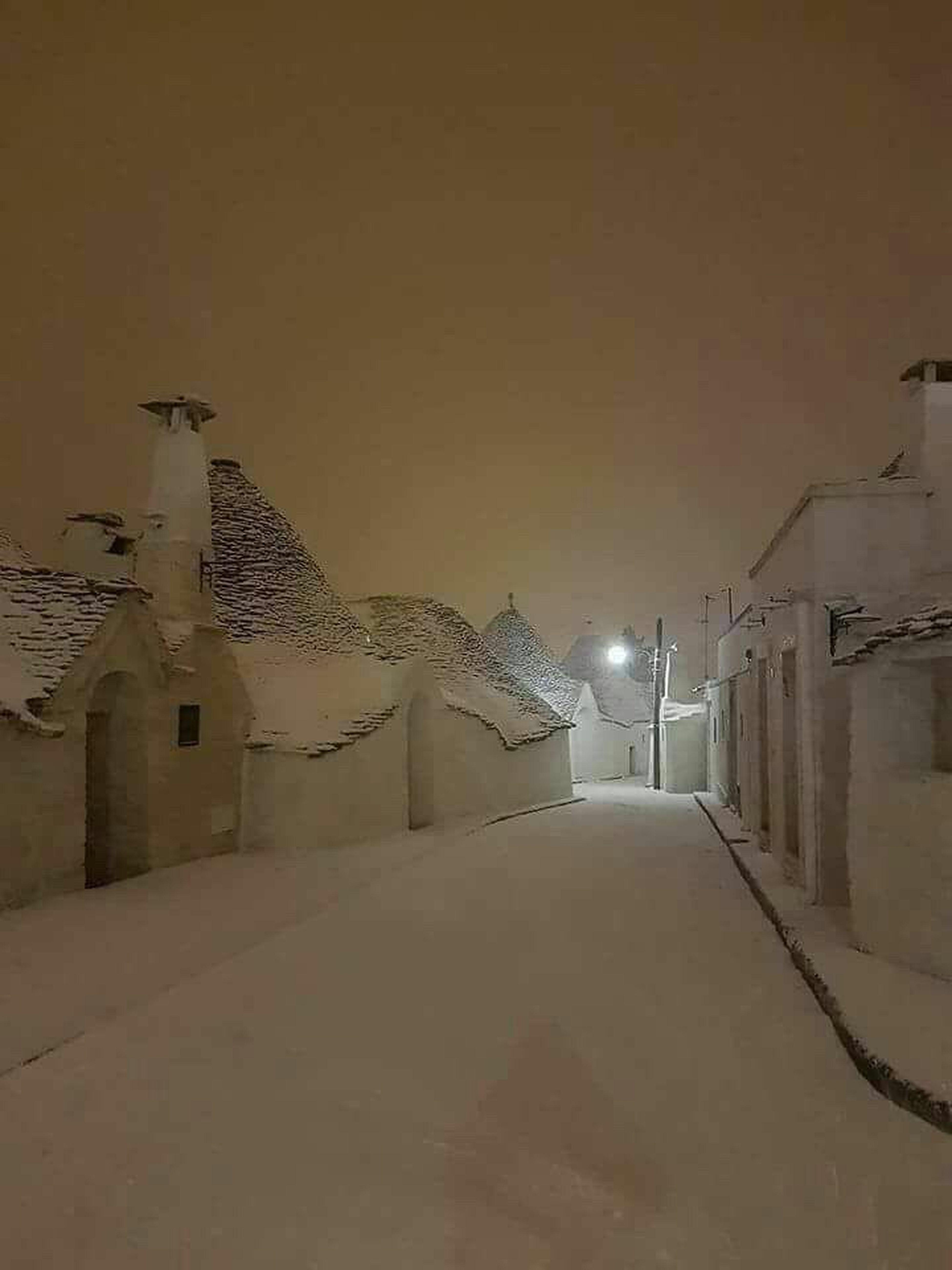 Night Winter Illuminated House