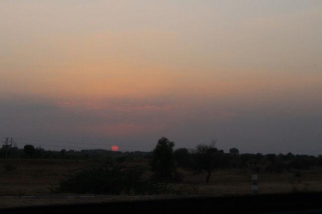 Streetside Sunset Hyderabad