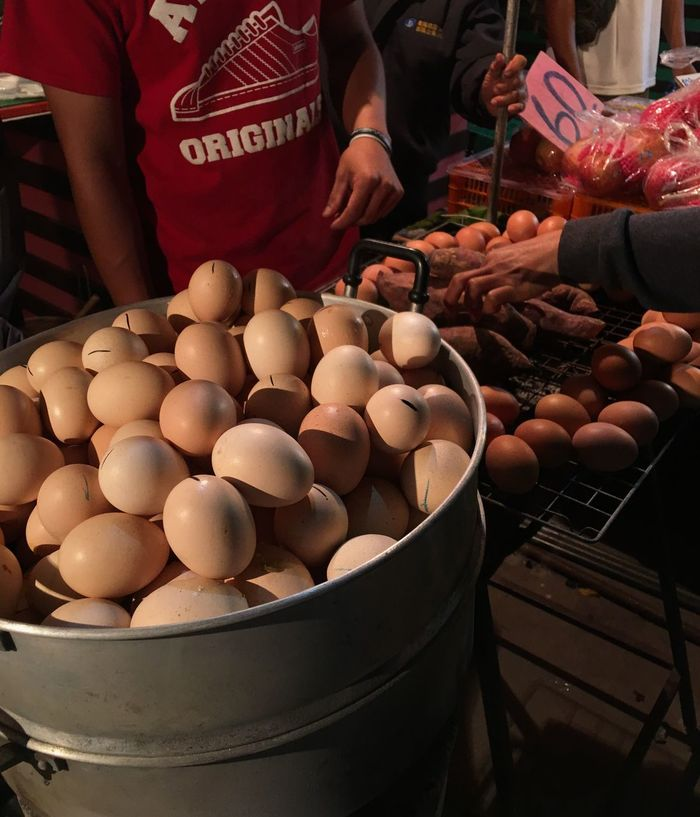 Steam Eggs Food And Drink Food Market Stall Freshness Indoors  Ready-to-eat One Person Human Hand People Adult Day Sale