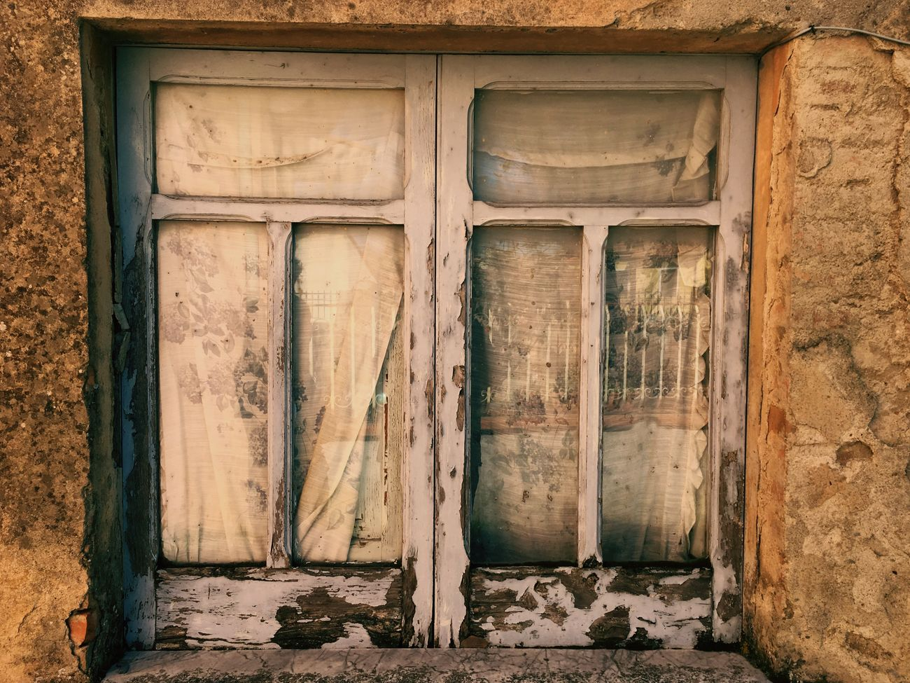 Old window. Vintage Photo