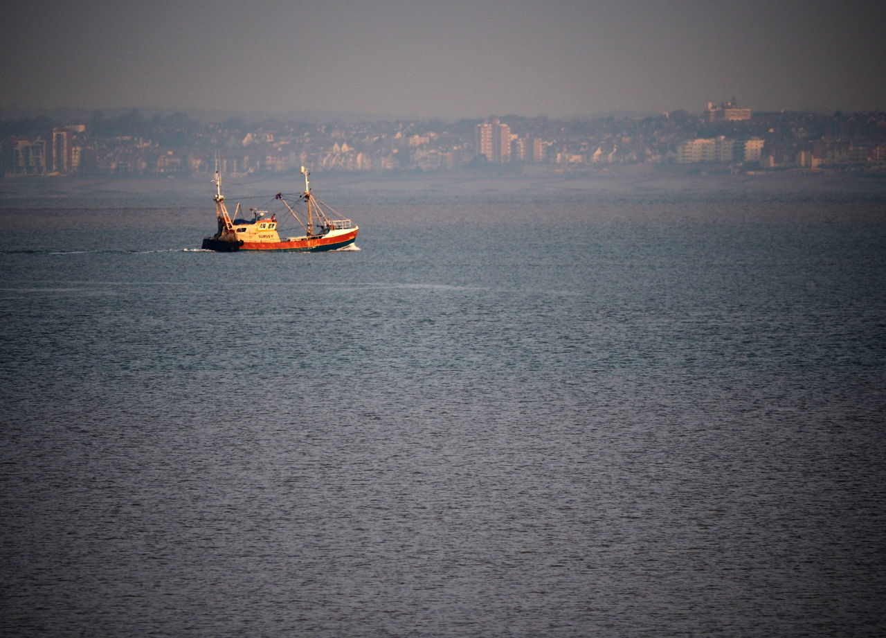 Boat No People Outdoors Sea Sky Southend On Sea Water Landscape