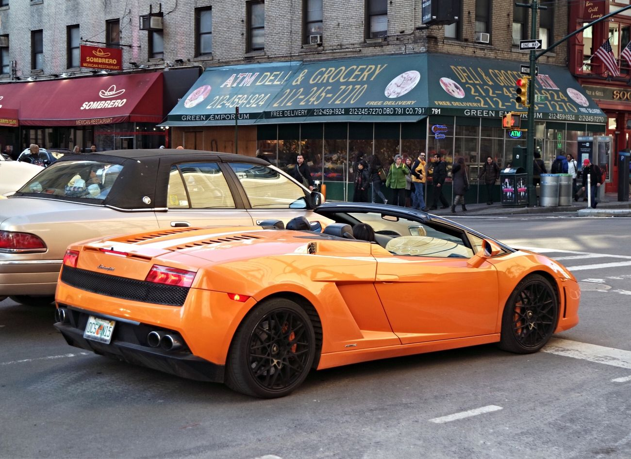 Lambo On Eigth Avenue. Can't say I see a driver! Lamborgini  LamborghiniLovers Exotic Cars Designer Goods Newyorkstateofmind Check This Out