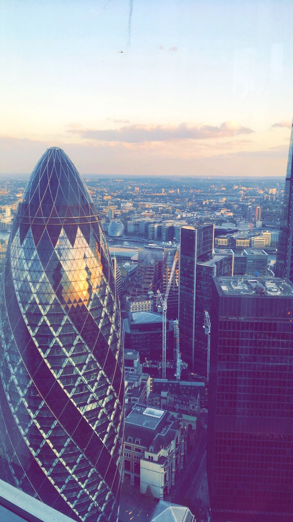 Gherkin Tower City London Sunset Architecture EyeEmNewHere EyeEmNewHere
