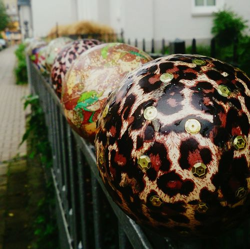 Like pearls on a string Fence Balls Art And Craft Close-up Brunswick Braunschweig