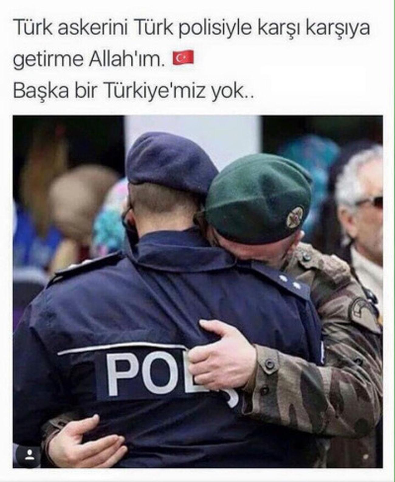 Bayrak Asker Polis Vatan Bölünmez Türkiye