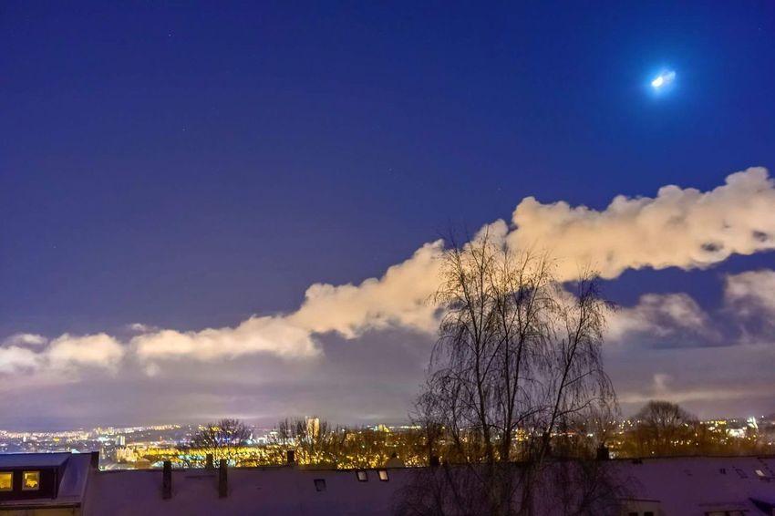 Snow Night Nightphotography Outdoors Moon Cold Temperature
