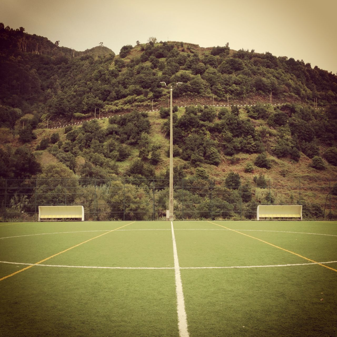Day Football Footballfield Grass Green Color Madeira Nature No People Outdoors Pitch Playground Playgrounds Sky Soccer Soccer Field Sport Tree