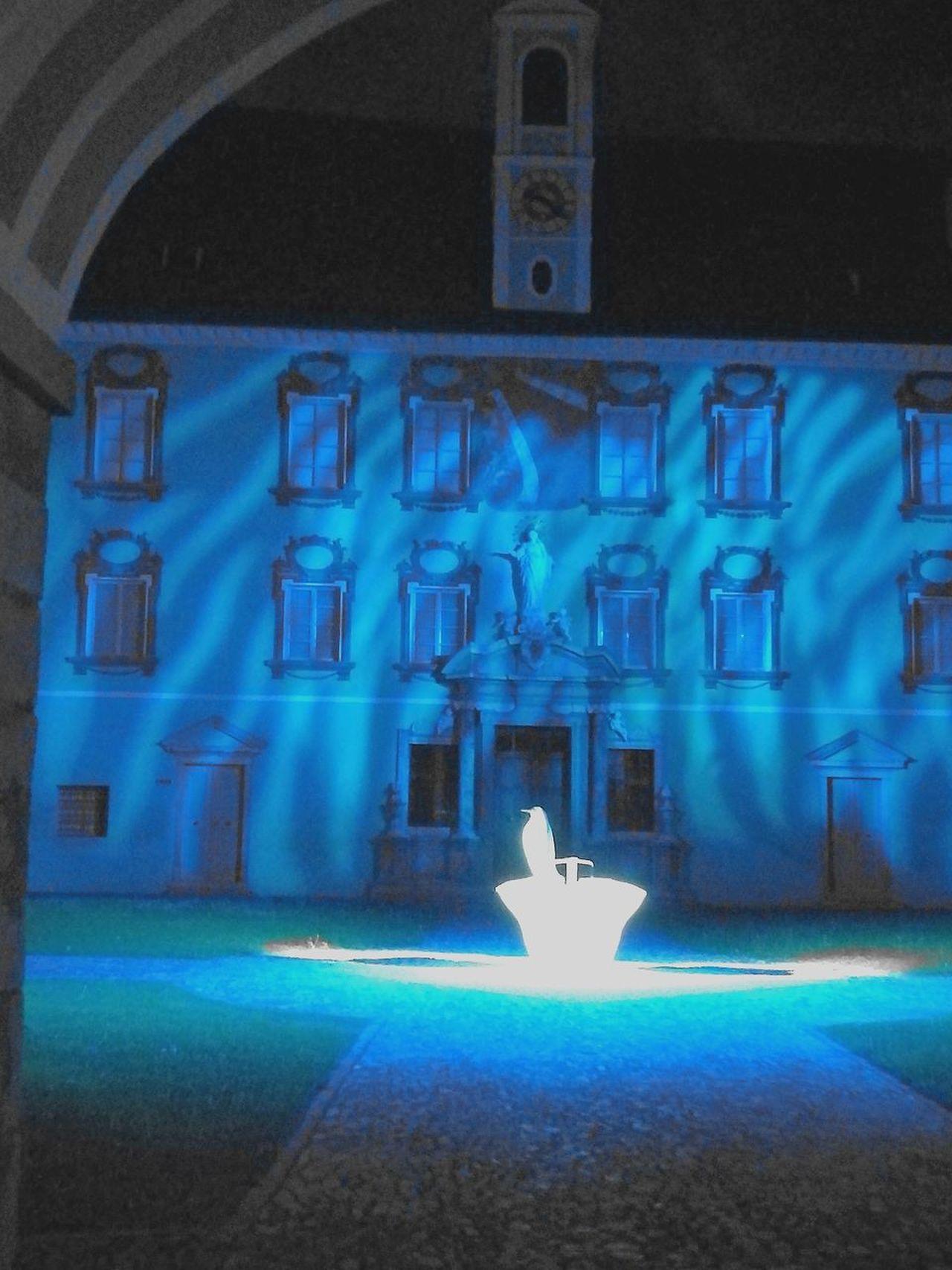 Bressanone Isarco Nightlife Tourism Illuminated Blue Architecture No People Night Italy🇮🇹 Alto Adige