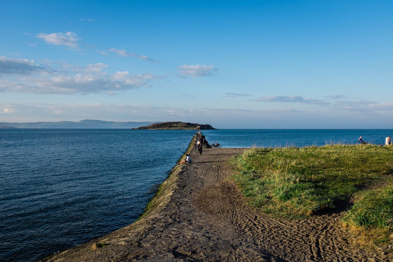 Cramond Island on a fine sunny evening near Edinburgh in Scotland. Edinburgh Cramond Scotland Eyeem Scotland  Water FirthOfForth Fuji X100s Unitedkingdom EyeEm Best Shots Outdoors