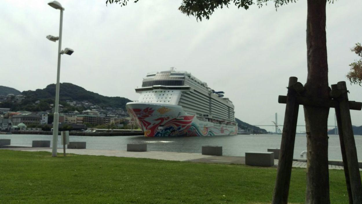 大型客船 海 散歩 公園