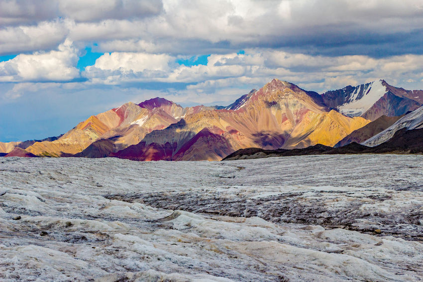 Kyrgyzstan Pamir Mountains Beauty In Nature Cloud - Sky Day Glacier Landscape Mountain Mountain Range Nature No People Outdoors Pamir Scenics Sky Tranquil Scene Tranquility