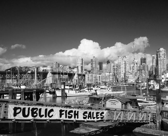 Fish Harbour Cityscapes Blackandwhite Photography Boats Black And White