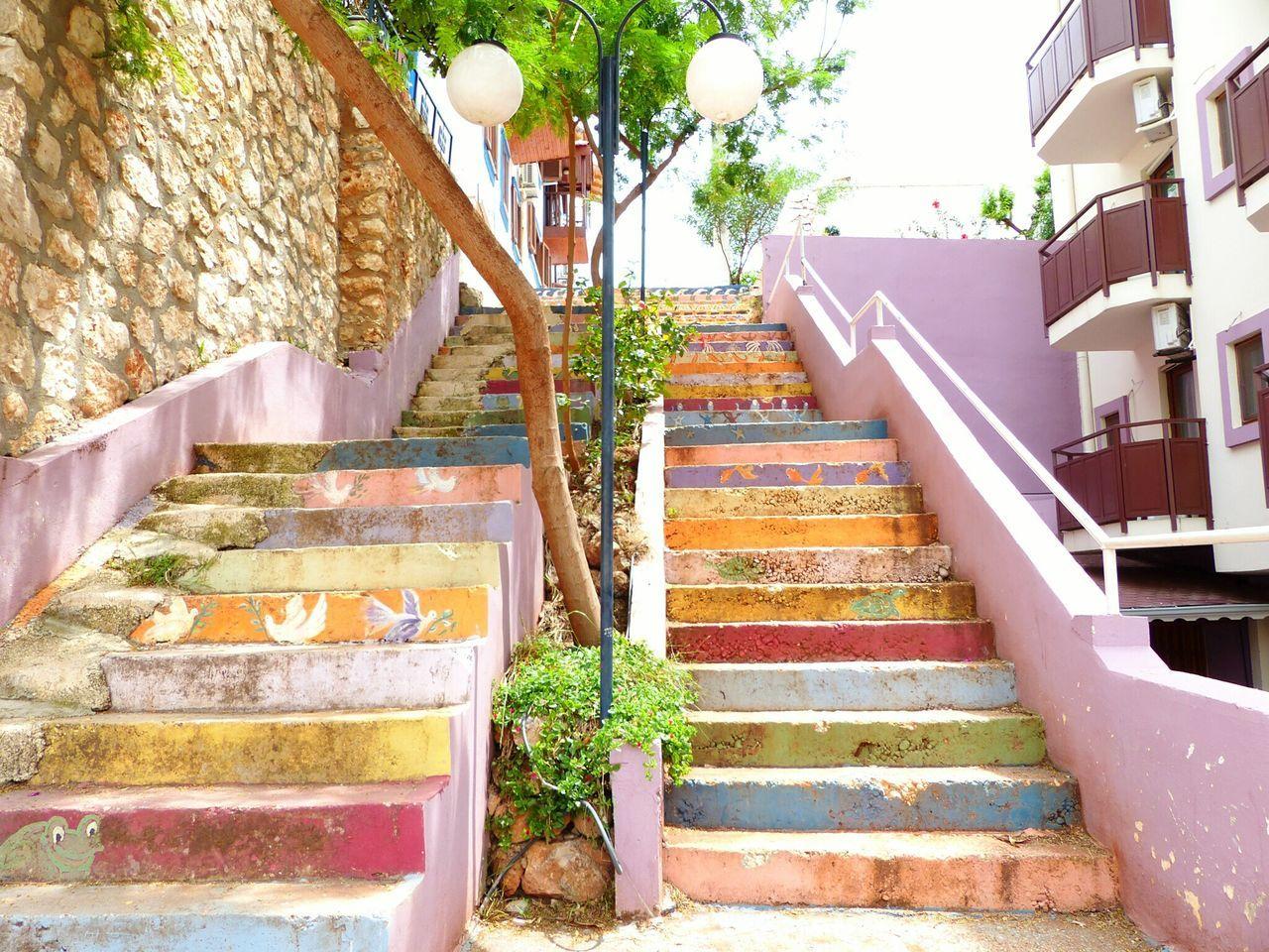 Turkey💕 Kalkan Steps Painted Steps