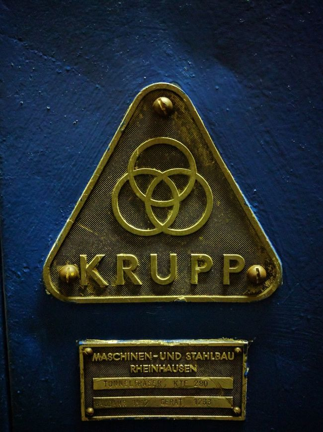 Label Krupp mining Mining Heritage Iron - Metal Technology Bochum Industrial Equipment Mining Industry Industry Factory