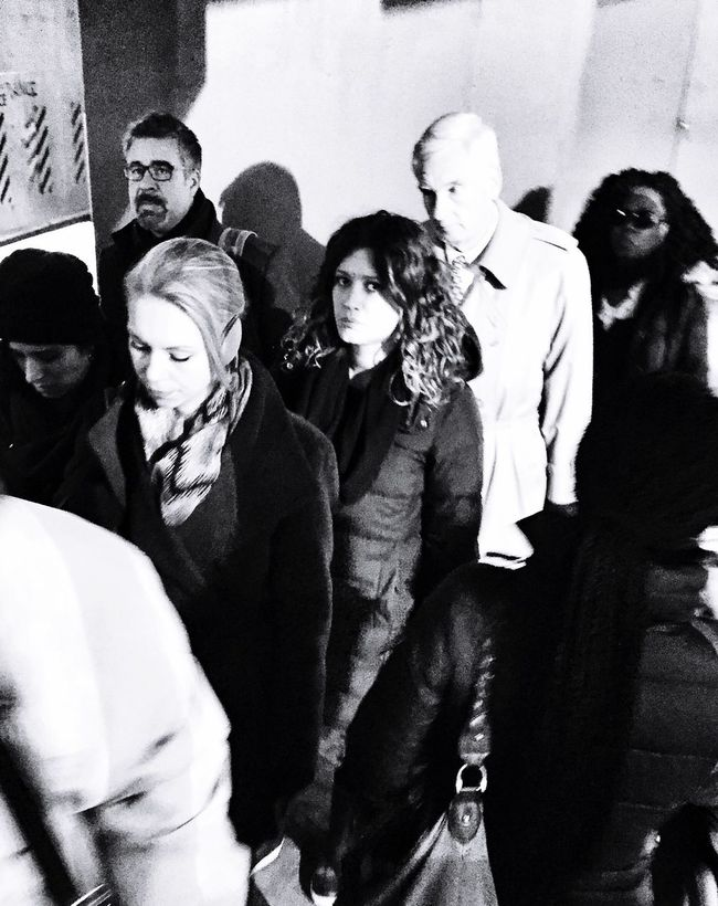 Intense Nothingness Crowded Metro Rush Hour Under Pressure