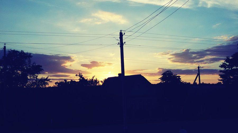 вечер Ночь Закат