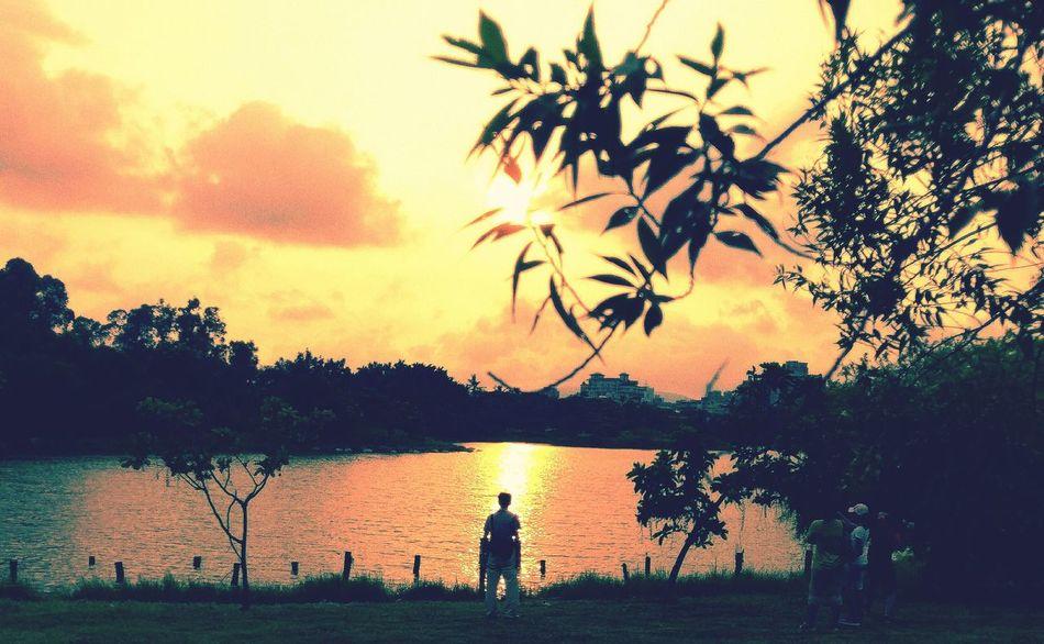 景色 人生有多少個能靜靜欣賞美麗夕陽的日子