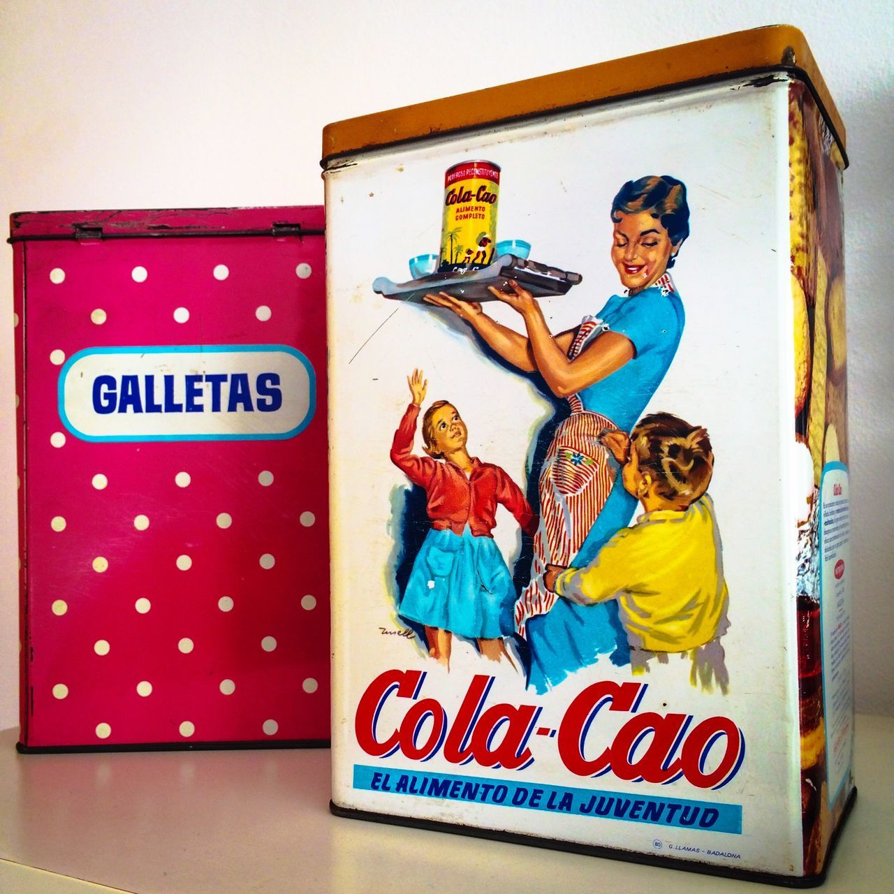 Lieblingsteil Metal Box Colacao Colo Tin Galletas Old Box Cookie Tin Cookies Childhood Cola-cao Little Treasures My Little Treasures Cacao Powder Art Is Everywhere
