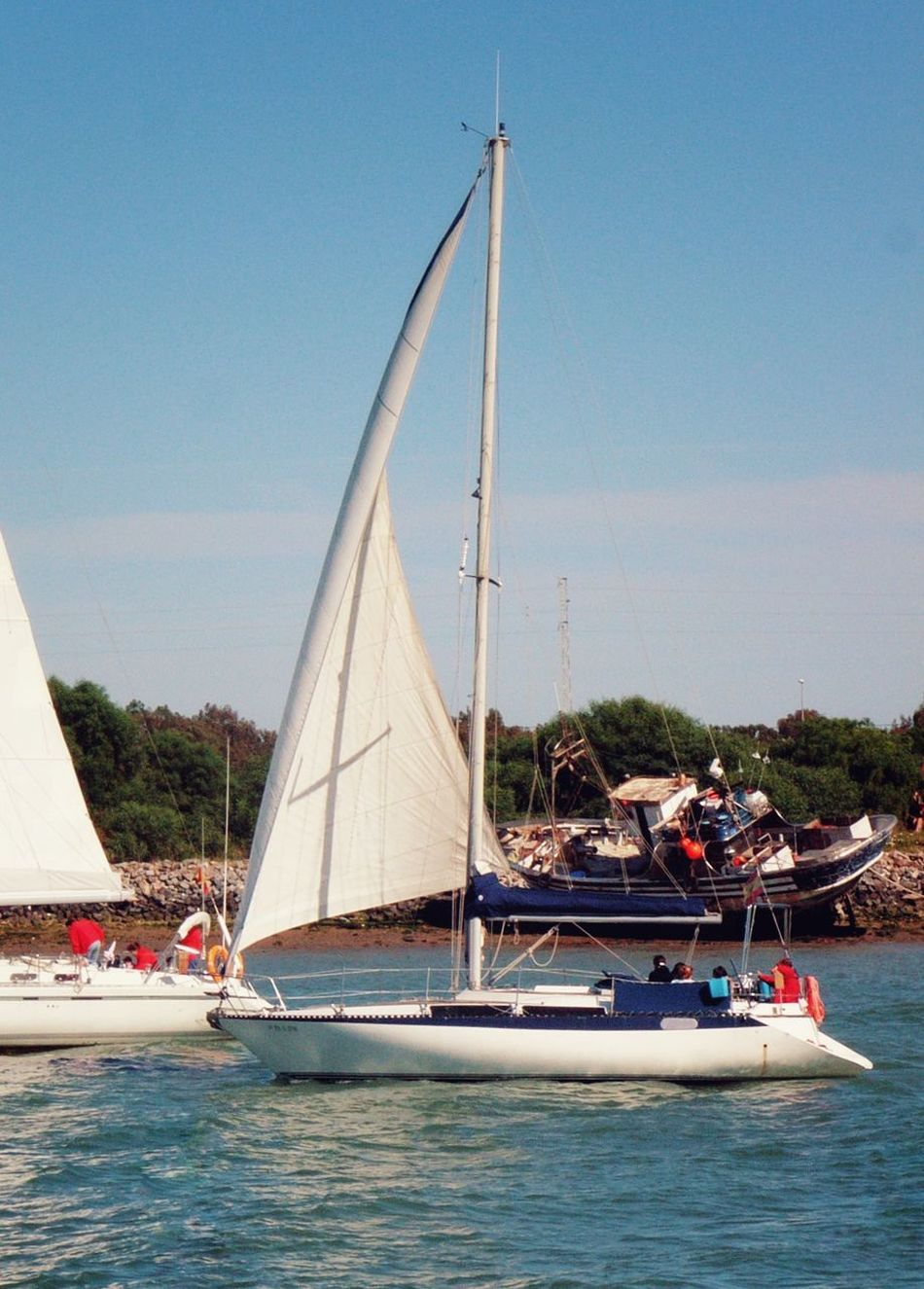 Nautical Vessel Sailboat Sea Water Sport Sports Race Yacht Competition People Summer Yachting Regatta Sailing
