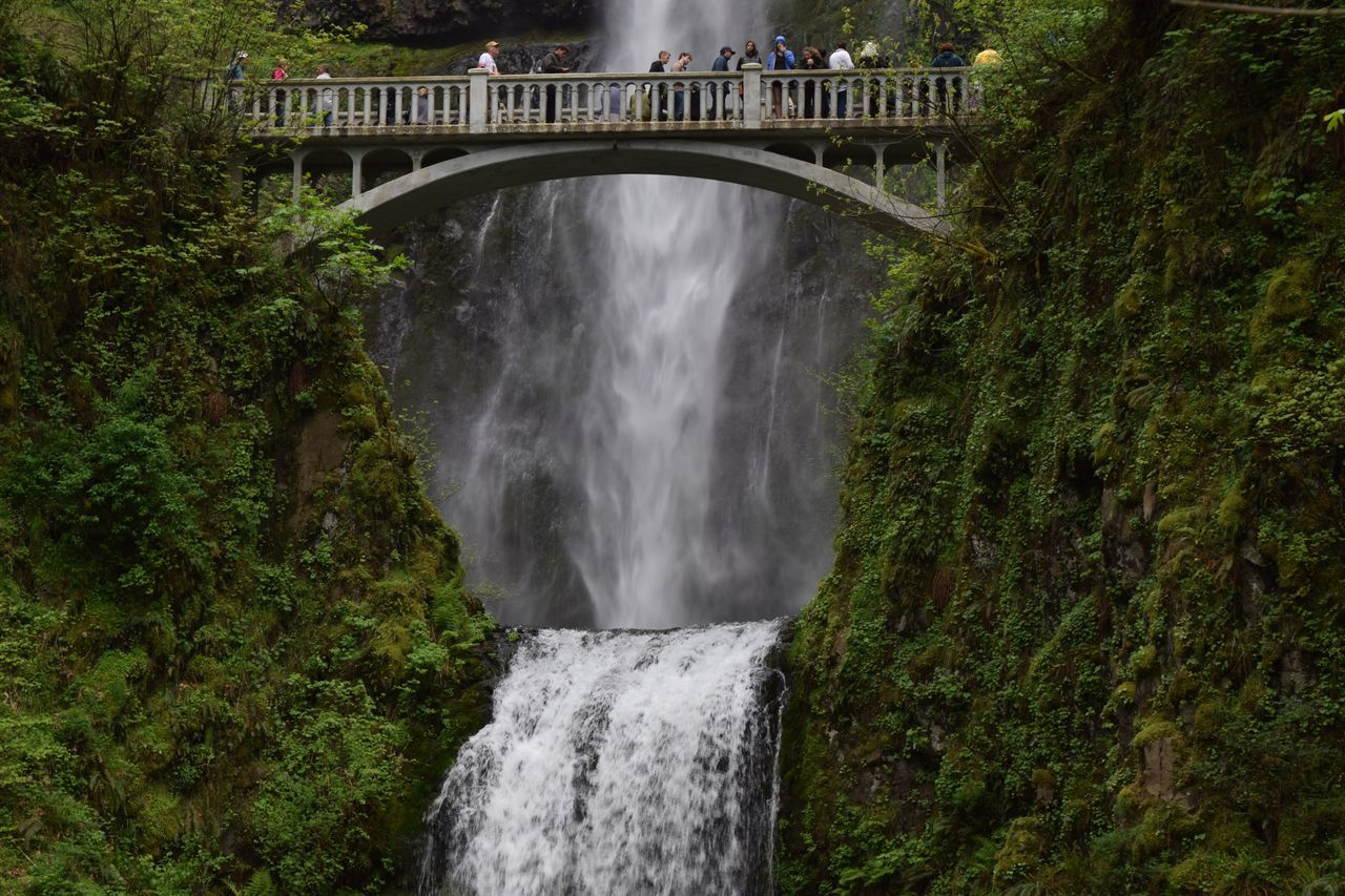 Waterfall Multnomah Falls  Water Nature Tree Built Structure Outdoors Beauty In Nature Scenics Bridge - Man Made Structure Architecture Motion Day No People EyeEm Best Shots EyeEm Nature Lover Streamzoofamily No Edit/no Filter Nature Bridge Natural Beauty Water_collection Travel Photography Waterfall_collection